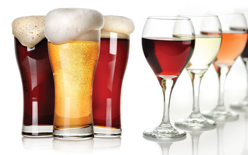 wine-beer-glassestogether